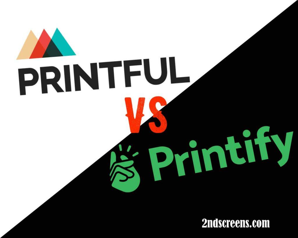 Comparing Printify vs Printful POD print providers